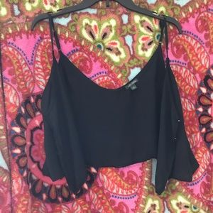 Target crop top. It buttons in front. NBW